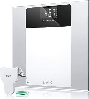 Deik Bilancia Pesapersone Digitale Tecnologia Step-on, Autospegnimento de LCD Display Retroilluminato con Alta Stabilità V...