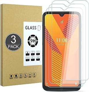 E-Hamii [3-pack 9H härdat okrossbart glas kompatibelt med Wiko Y62, [HD kristallklar] 0,33 mm skärmskydd för Wiko Y62