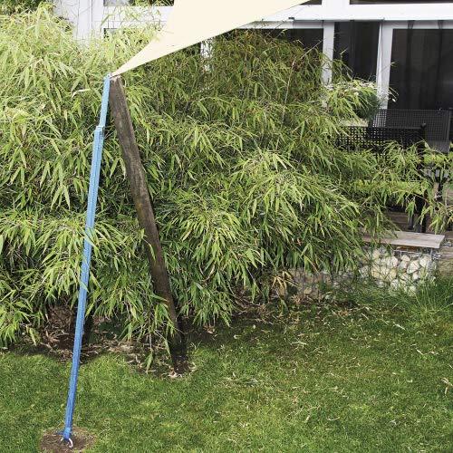 Hochwertiger XXL Erd-anker & Bodenanker Metall verzinkt für Garten & Gewerbe – Erdhaken / Bauanker 59 cm lang