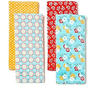 The Pioneer Woman Spring Floral Kitchen Towel Set, 4pk, Print