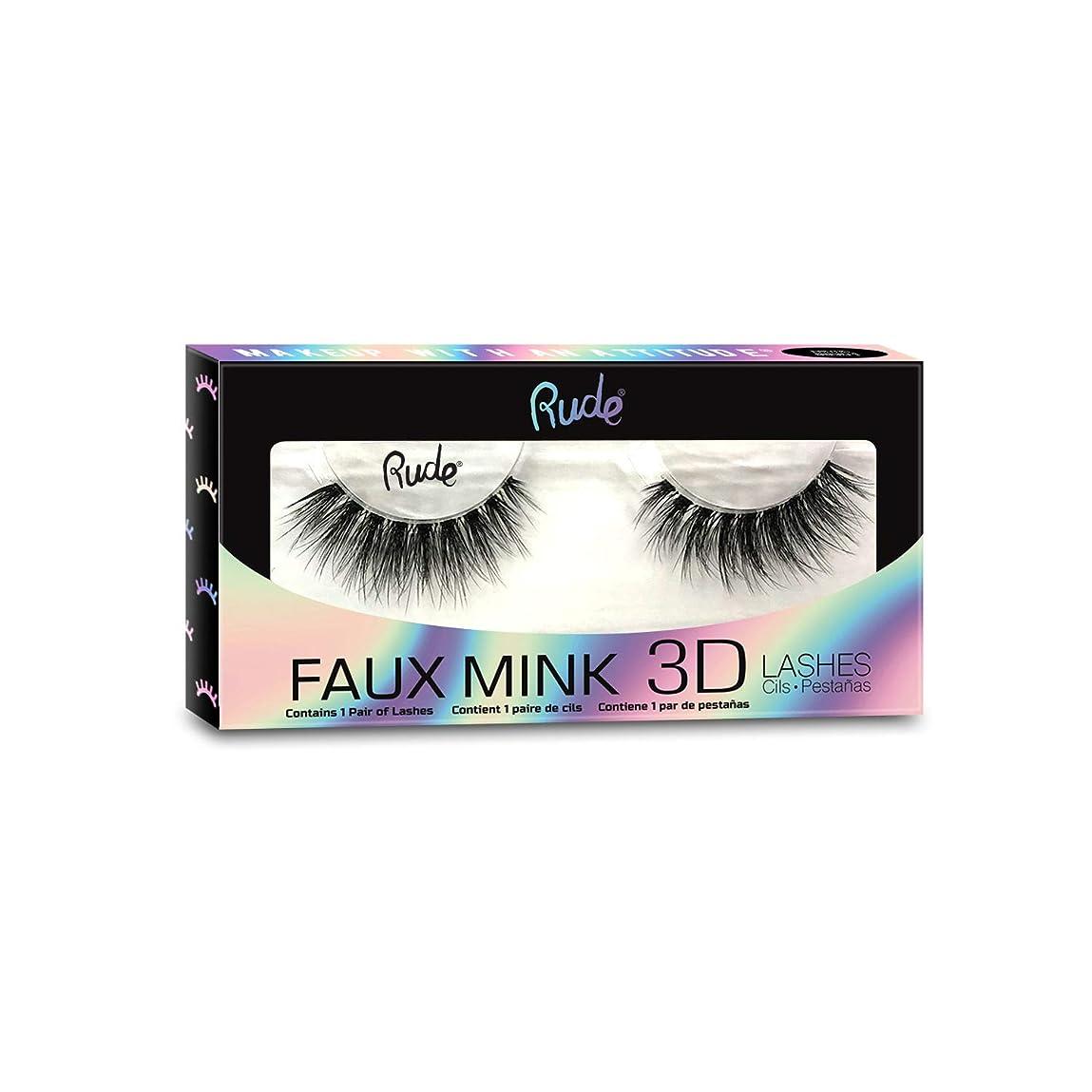 息子トランジスタ郡(3 Pack) RUDE? Faux Mink 3D Lashes - Metamorphic (並行輸入品)