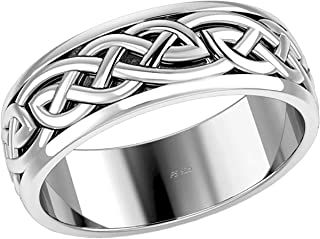 CloseoutWarehouse Claddagh Hieroglyphics Design Ring Sterling Silver 925