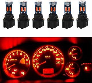 WLJH Super Bright T5 Led Bulb 74 27 37 58 70 Light with PC74 Twist Lock Sockets for Automotive Interior Dash Instrument Cl...