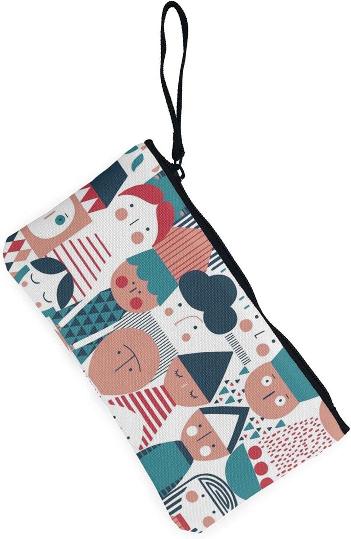 AORRUAM Interesting pattern Canvas Coin Purse,Canvas Zipper Pencil Cases,Canvas Change Purse Pouch Mini Wallet Coin Bag