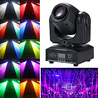Tomshine Moving Head 15 colours and 8 gobos DJ Lights 9 / 11 Channel 30W LED Stage Light with colours mix for Party Disco DJ Show KTV