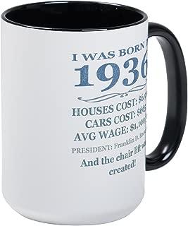 CafePress Birthday Facts-1936 Mugs Coffee Mug, Large 15 oz. White Coffee Cup
