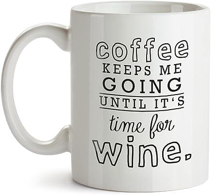 Preisvergleich für VISUAL STATEMENTS Tasse - Becher mit Spruch; aus Keramik in weiß – eine lustige Kaffeetasse – spülmaschinenfeste Tasse; Becher für Heissgetränke – Coffee Cup