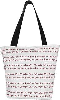 Lesif Einkaufstaschen, Ballon-Tiere, breite Wirbelstreifen in Rot, Segeltuch, Schultertasche, Einkaufstasche, wiederverwendbar, faltbar, Reisetasche, groß und langlebig, robuste Einkaufstaschen