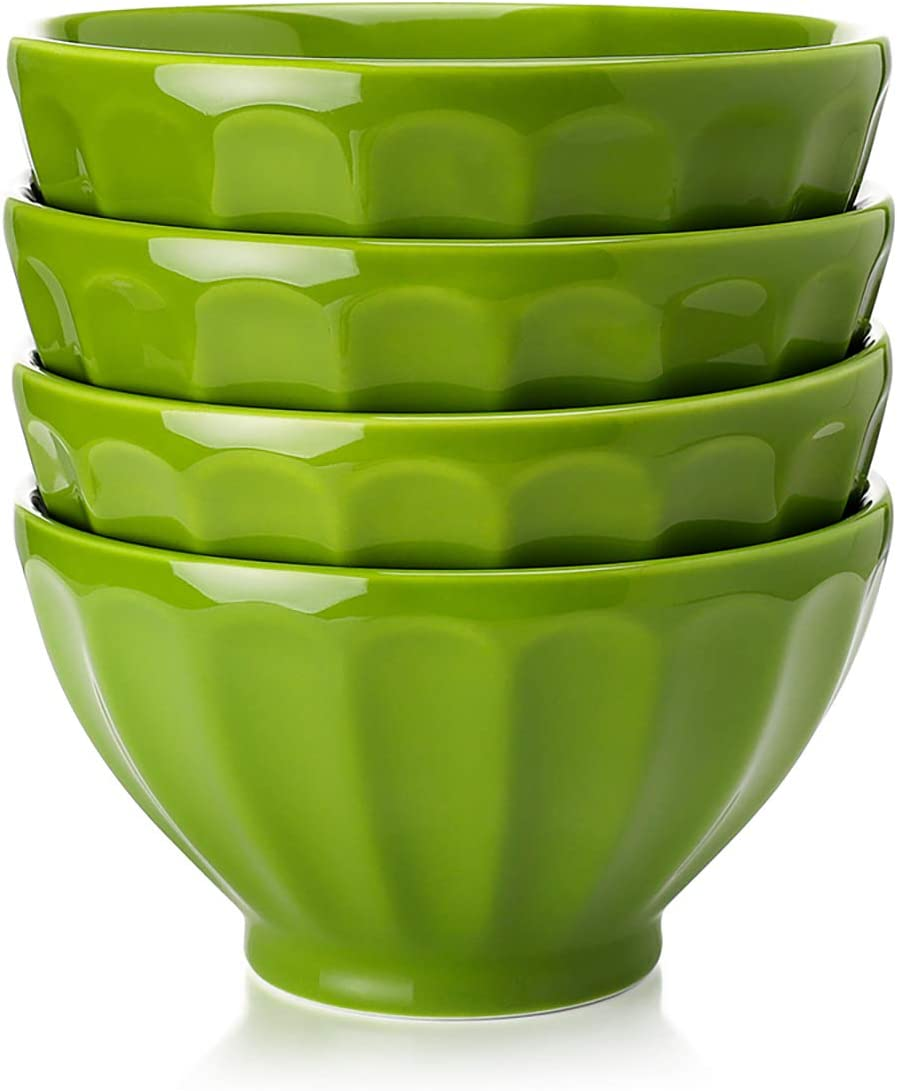 Sweese Ranking TOP7 Stackable and Deep Porcelain Bowls Cereal for Tampa Mall Ounce S 20