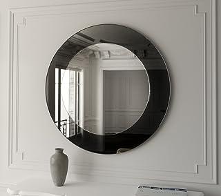 SDG Black Classico Round Frameless Mirror