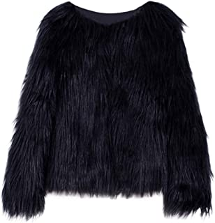 Kid Toddler Girl Faux Fur Jacket Thick Autumn Winter Warm Long Sleeve Coat Solid Outerwear Clothes