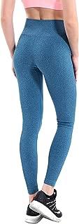 Women Yoga Pants High Elastic Fitness Sport Leggings Tights Slim Running Sportswear Sports Pants Quick Drying Training Trousers,Blue,L
