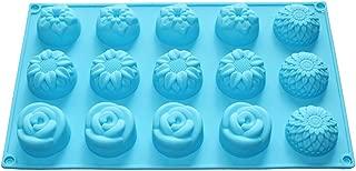 X-Haibei Sunflower Chrysanthemum Rose Mixed Mini Flower Soap Chocolate Silicone Mold
