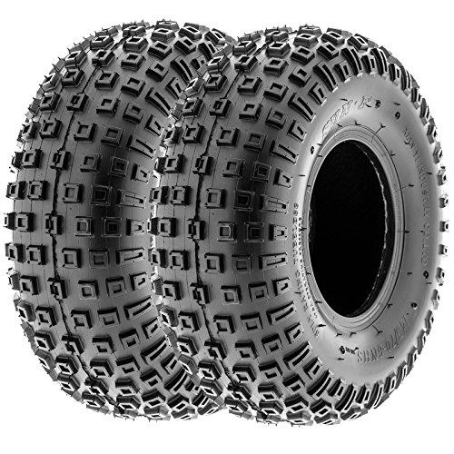 SunF 145/70-6 145/70x6 ATV UTV Tires 6 PR Tubeless A011 [Set of 2]