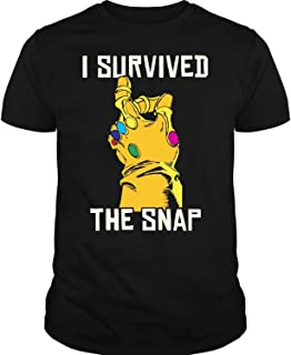Marvel Thanos Gauntlet I Survived The Snap Graphic T Shirt, Marvel Thanos T Shirt