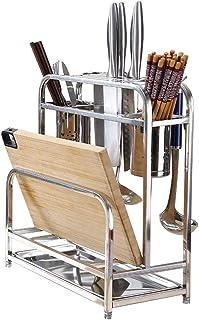 Repisa de cocina Portaherramientas multiusos de almacenamiento en rackPortacuchillas de acero inoxidable