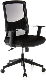 hjh OFFICE 653100 LAVITA krzesło biurowe obrotowe, obicie z siatki, trwałe oparcie z siatki, regulowane podłokietniki, erg...