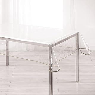 Nappe Cristal Rectangle 140 x 240 cm PVC uni 15/100E Garden/Biais Taupe