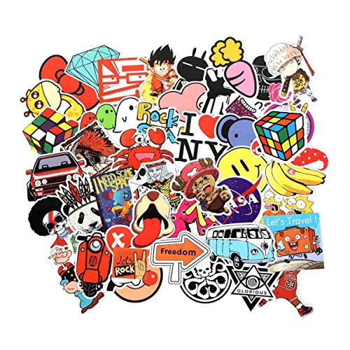 Cool Random Stickers 55-700pcs FNGEEN Laptop Stickers Bomb Vinyl Stickers Variety Pack for Luggage Computer Skateboard Car Motorcycle Decal for Teens Adults (205 PCS)