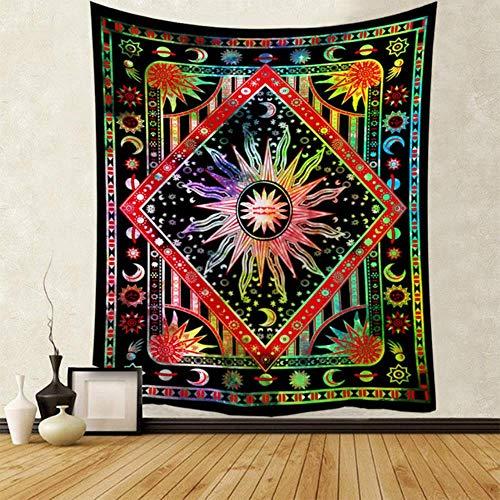 Tapiz de mandala indio para colgar en la pared, manta de playa, manta de camping, tienda de campaña, colchón de viaje, bohemio, almohadilla de dormir
