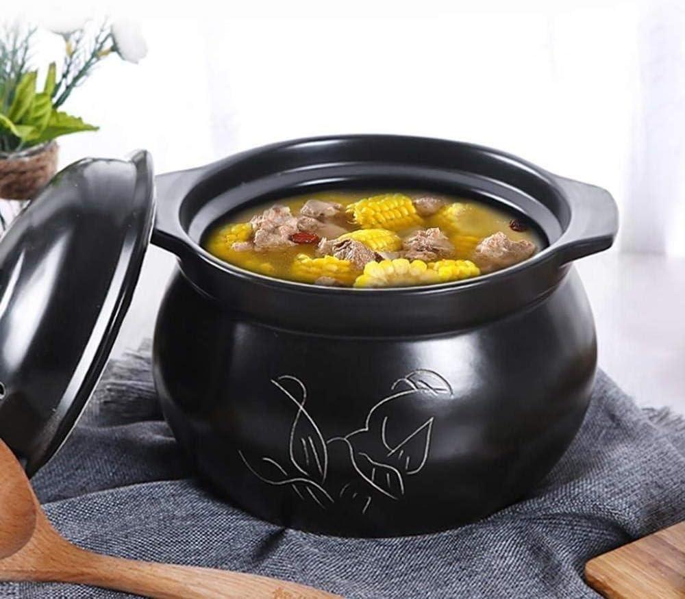 Pot à Ragoût En Céramique Feu Ouvert Haute Température Pot à Soupe De Ragoût à Usage Domestique,4L 4l