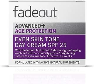 fadeout Advanced + Age Protection Even Tone Day Cream SPF 25, 1.69 ounces, 50ml