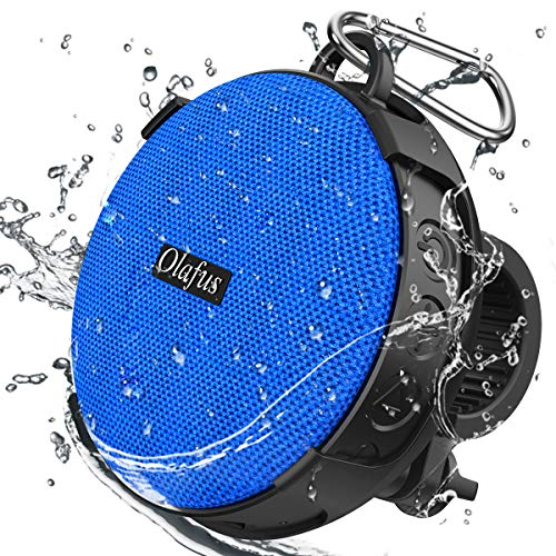 Olafus Portable Bike Bluetooth Speaker, IPX7 Waterproof Wireless Speakers with Bicycle Mount Holder, Bluetooth 5.0 Mini 5W Speaker for Outdoor Cycling Camping Sport Pool Beach Hiking