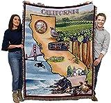 Washington DC - Cotton Woven Blanket Throw - Made in The USA (72x54)