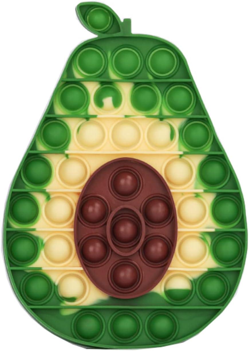 Tumuka Pop it Fidget Toy Pack Push Pop Bubble para aliviar estrés y ansiedad de niños y Adultos Popit Fidget Toys Pack Fidget Toys Baratos con Forma de Aguacate