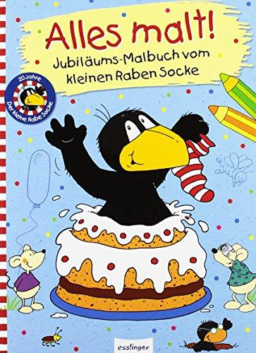 Der kleine Rabe Socke: Alles malt! – Jubiläums-Malbuch vom kleinen Raben Socke