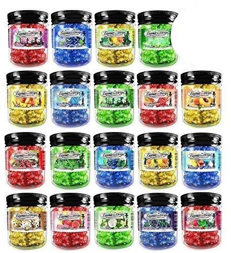 3 Jars - 100% Tobacco & Nicotine Free Beamer Ice Drops Gel Hookah Shisha Vapor 4 Real Hookah. 2 Hours + Per Head. + Beamer Smoke Limited Edition Sticker