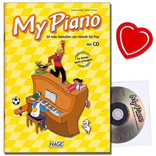My Piano - Spielbuch von Gerhard Kölbl mit CD, Notenklammer - 30 tolle Melodien von Klassik bis Pop - geeignet für den Unterricht in der Musikschule
