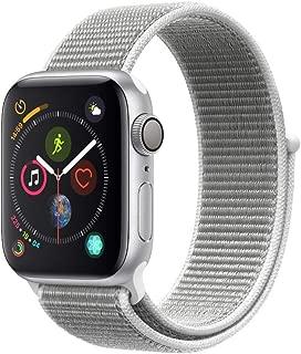 AppleWatch Series4 (GPS, 40mm) - Silver Aluminium Case with Seashell Sport Loop
