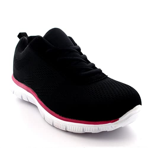 sneakers for cheap ff121 ab14b Get Fit Womens Mesh Go Running Trainers Athletic Walk Gym Shoes Sport Run