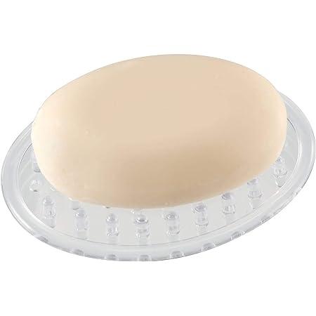 WingsShop Bar Soap Saver for Shower White Draining Soap Lift Pad Mat for Bathroom Porous Design Anti Slip