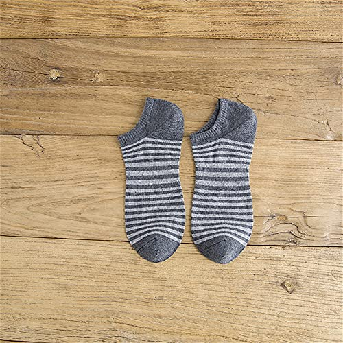 5/10 pares de calcetines de hombre Calcetines de algodón Barco invisible Calcetines del barco fino transpirable adulto tobillo (Color : Type EE, Size : 5 pairs)