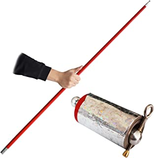 OUERMAMA 150CM Magic Appearing Wand Metal Appearing Cane with Video Tutorial Stage Magic Trick
