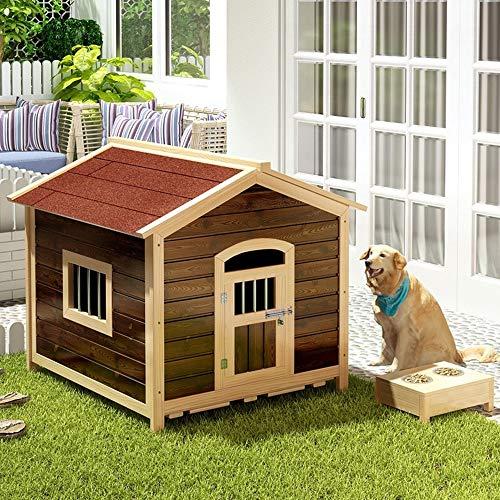 Holzhaus Verstecken Sich Für Tiere Hundehütte Hunde Und Katzen Schlösser Ihr Haustier Von Wind Und REGT for Die Innen- Und Außeneinsatz Zum Schutz (Color : Green, Size : 78x85x88cm)