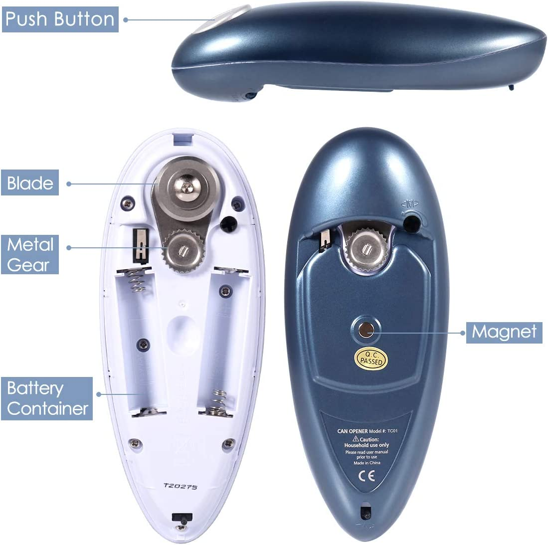 Restaurant can Opener Smooth Edge Automatic Electric Can Opener Electric Can Opener Chefs Best Choice Best Kitchen Gadget for Arthritis