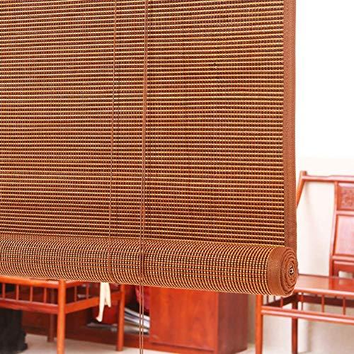 FXDCQC Persianas enrollables, persianas, persianas Exteriores Gazebo Pergola Balcón Puerta Sombrillas, 85 cm / 105 cm / 125 cm / 145 cm de Ancho (Tamaño: 125 × 140 cm)