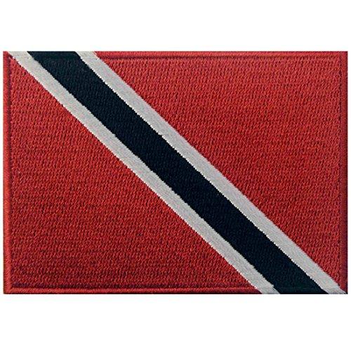 Trinidad & Tobago Flagge Bestickter Karibik Aufnäher zum Aufbügeln/Annähen