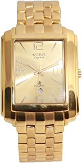 Casual Watch for Men by Accurate, Gold, Rectangle, AMQ1350