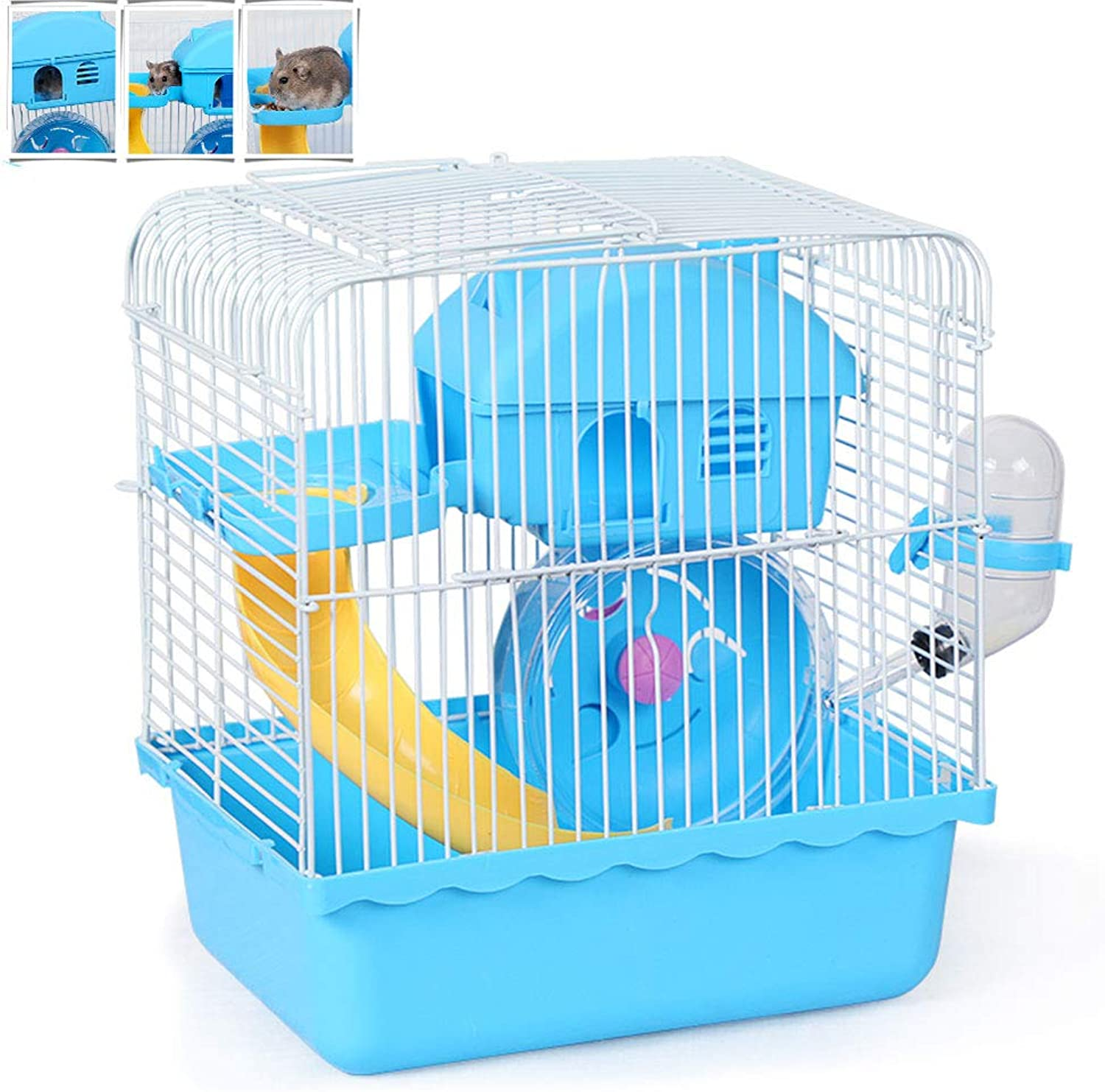 Hamster Cages Small Animal Houses and Habitats Second Floor Mouse House Feeding Station Suitable for Small Hamsters and Gerbils