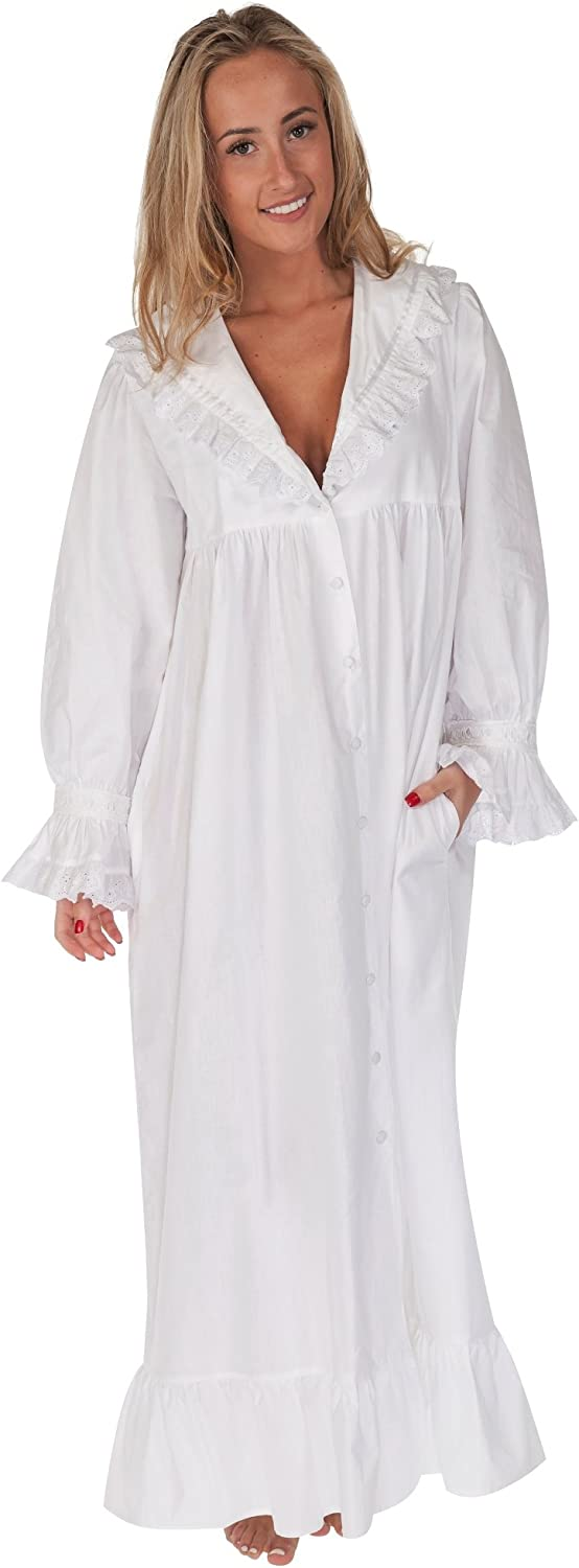 The 1 for Elegant U Be super welcome Amelia 100% with Pockets Cotton Victorian Nightgown