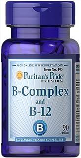 Puritan's Pride Vitamin B-Complex and Vitamin B-12 Tablets, 90ct