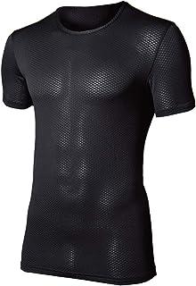 おたふく手袋 ボディタフネス デュアル3Dファーストレイヤー 半袖 クルーネックシャツ オールシーズン対応 JW-521 ブラック S