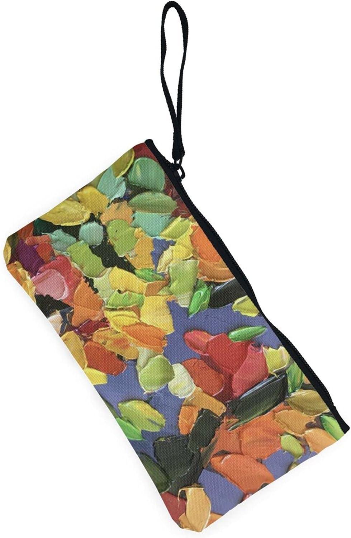 AORRUAM Colorful Painting Canvas Coin Purse,Canvas Zipper Pencil Cases,Canvas Change Purse Pouch Mini Wallet Coin Bag