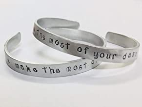 Make the most of your dash - Inspiration Handstamped Cuff Bracelet