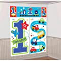 """All Aboard Boy"" Scene Setters Wall Decorating Kit, Birthday from Amscan"
