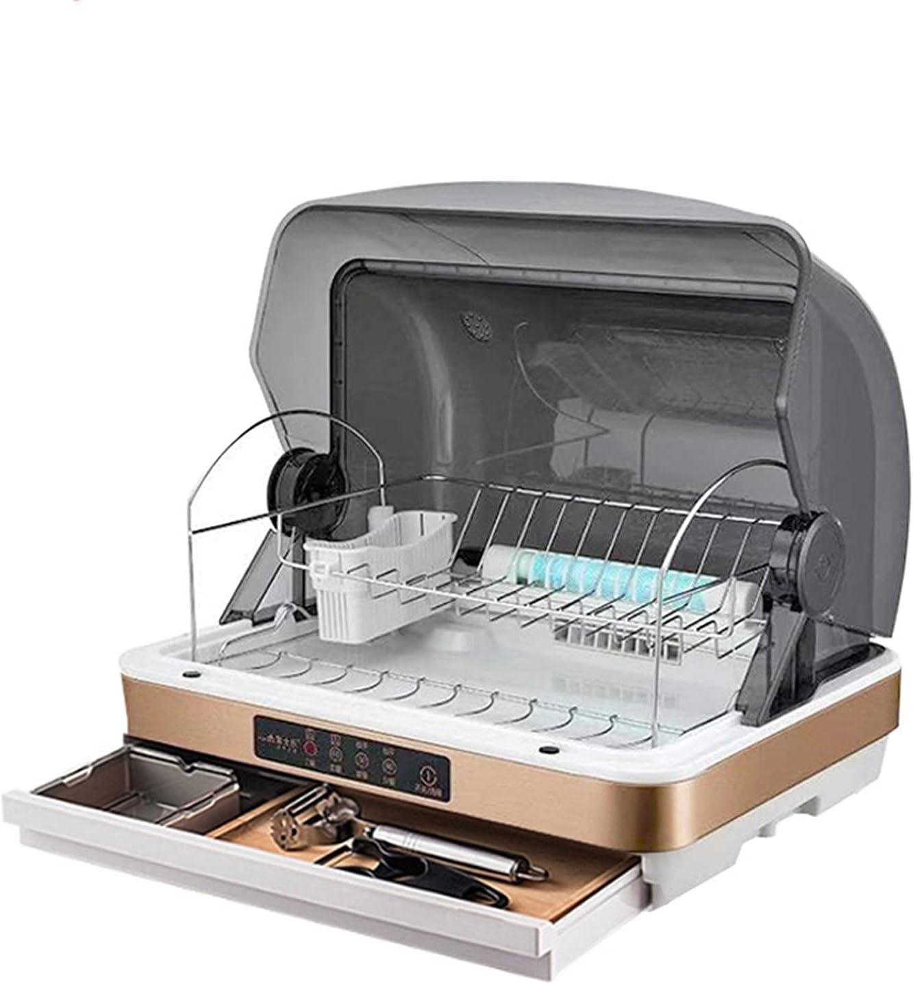 MOSHUO Lavavajillas de encimera portátil, vajilla compacta de Almacenamiento de lavavajillas de 315 W con Pantalla LED y Canasta, para Oficina de apartamento y Cocina doméstica, Amarillo